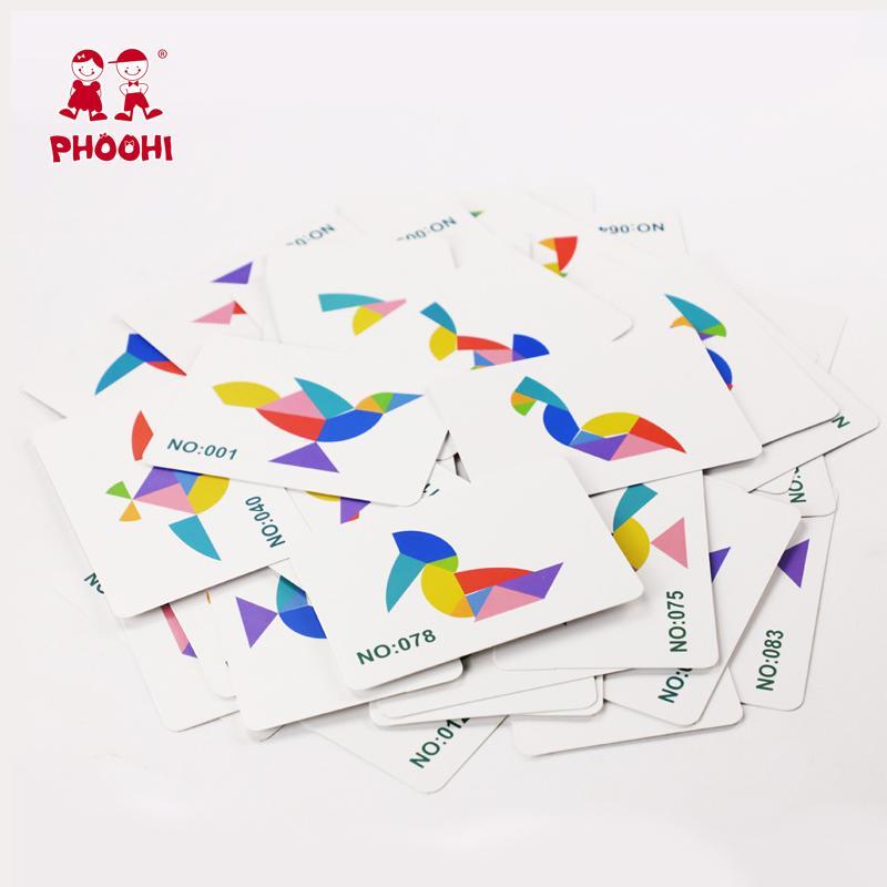 Jigsaw Puzzle di legno insieme del bordo Colorfu Cento Uccello gioco puzzle Montessori giocattoli educativi per i bambini