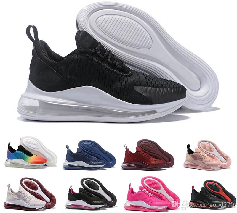 Compre Nike Air Max 720 Airmax 720 Air 720 Basic Leather Casual Shoes  Hombres De Moda Baratos Negro Blanco Rojo Golden Skateboarding Sneakers  Tamaño ...