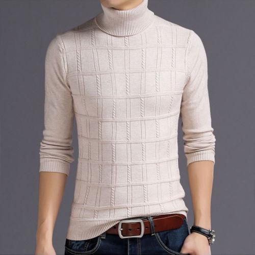 купить оптом мужчины с длинным рукавом вязаный свитер Slim Fit