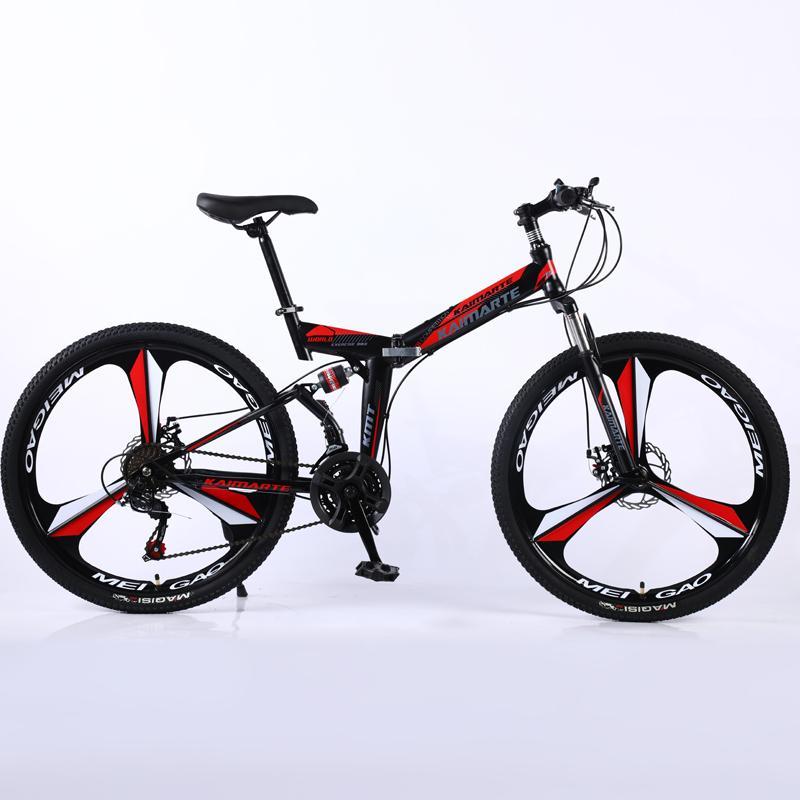 21 скорость складного горного велосипеда 24 и 26 дюймов велосипеда двойных дисковые тормоза задействуя велосипед складной горного велосипеда