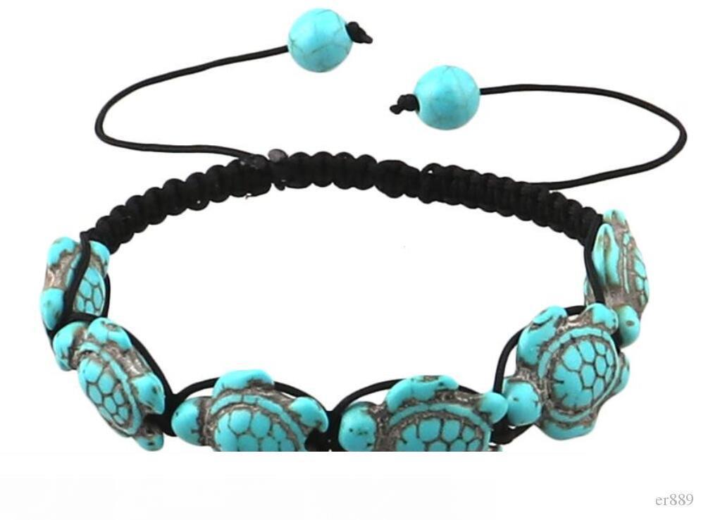 Turquoise Bracelet Men Women Boho Beaded Bangle Unisex