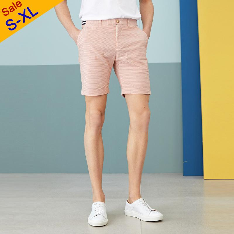 Compre Venta De Separacion Casuales Para Hombre Pantalones Cortos Tela Escocesa Del Verano Pantalones Cortos De Color Rosa 95 Algodon 5 Spandex Alto Qulity Bragas Cortas Hombre Slim Fit S Xl A