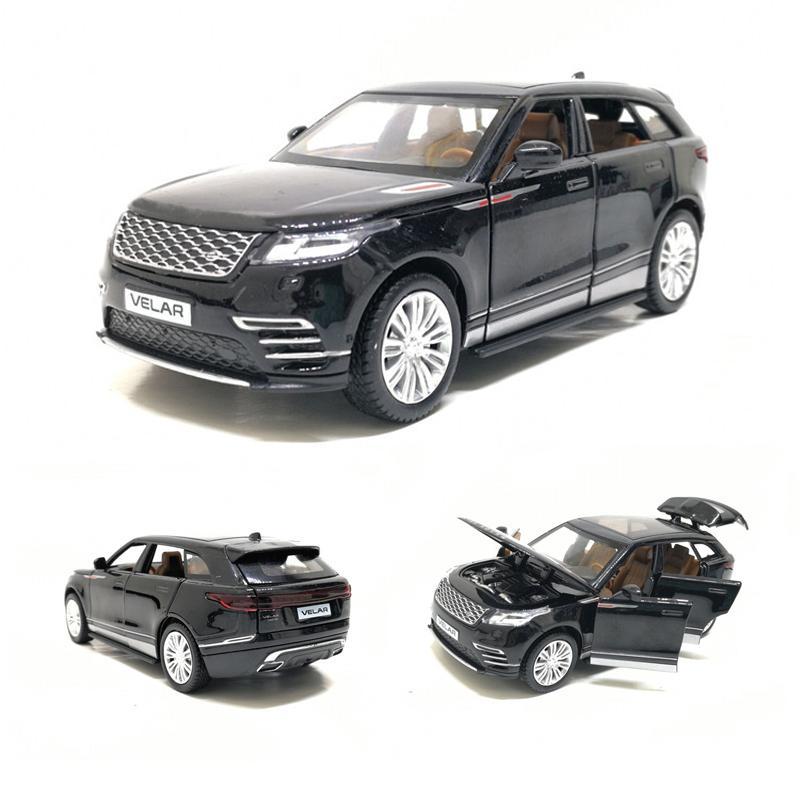 1/32 Velar Simulation Toy Car Model Alloy Pull Back Genuine License Collection Gift Off-road Vehicle Children Toys J190525
