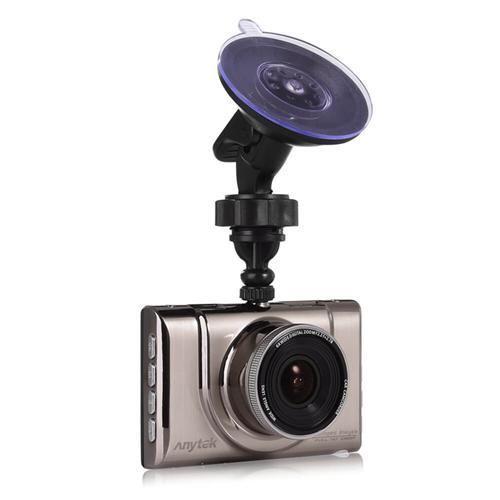 Anytek A100+ Novatek 96650 3.0inch Screen 170 Degree Wide Angle Car Camera 1920*1080P Dash Cam Multi-language Car DVR - Brown