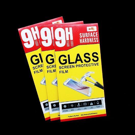 Blue Empty Retail Package Confezioni per protezione dello schermo in vetro temperato Premium per iPhone XR XS Max X 8 Plus Samsung S6