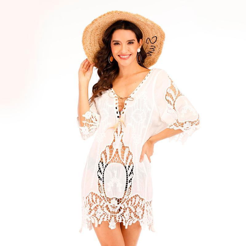 Mulheres Sexy oco Out Crochet Lace Swimwear Beachwear Terno Cover Up terno de natação para as mulheres esporte maillot de femme # Y2