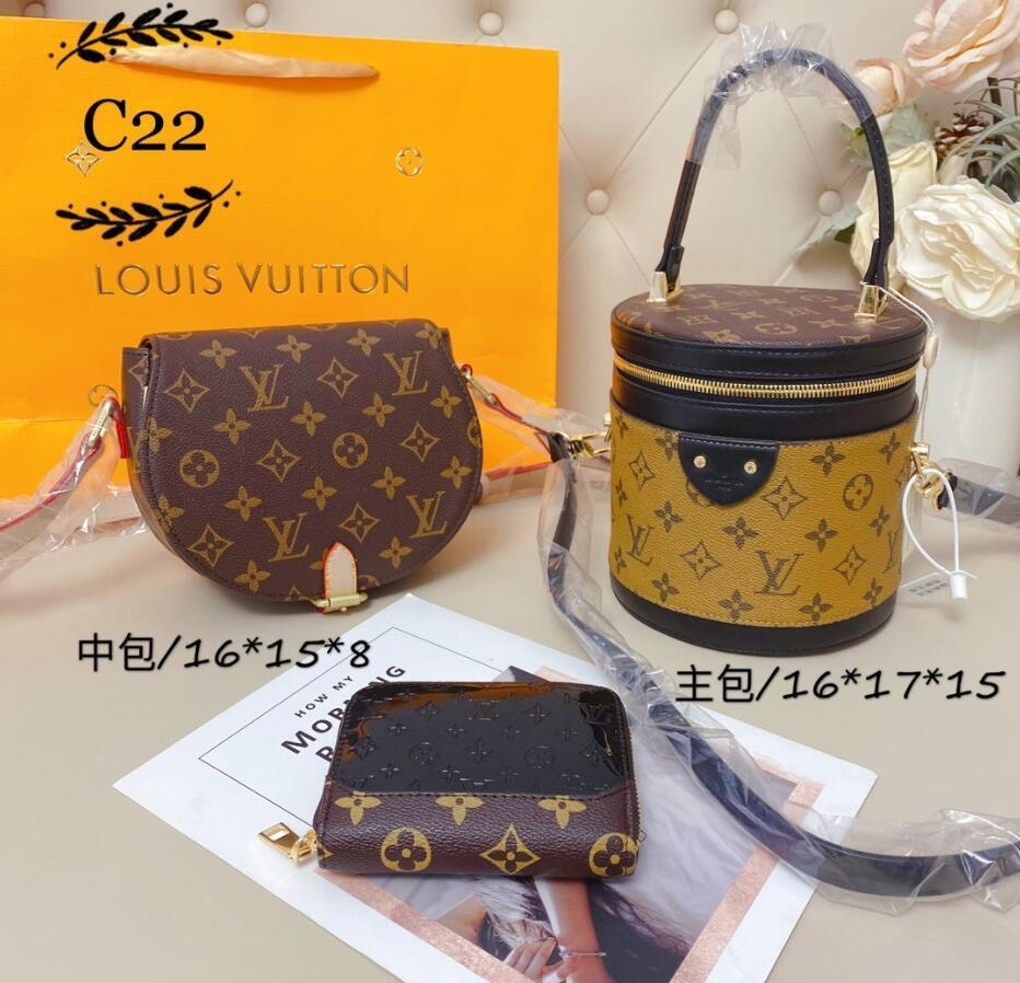 la migliore vendita tre pezzi tote 2020 famosi designer borsa delle donne nuova pelle lettera spalla sacchetto di alta qualità Messenger bag di lusso tote 07