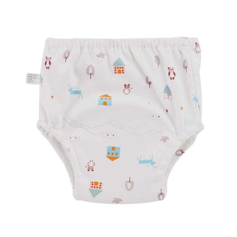 New Infant baby baby toilet training diaper cartoon printing cotton breathable pull-on pants bread pants high quality