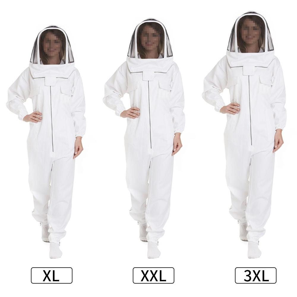 Costume Bee professionnelle pour les femmes et les hommes Full Body Keeper Bee Outfit Apiculture Vêtements de protection avec Veil Hat XL / XXL / XXXL