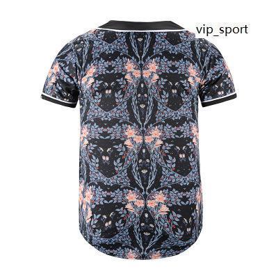 Nuevo estilo en línea Hombres Béisbol Jersey Sport Camisa con botón 3D Moda Buena calidad 40 Barato