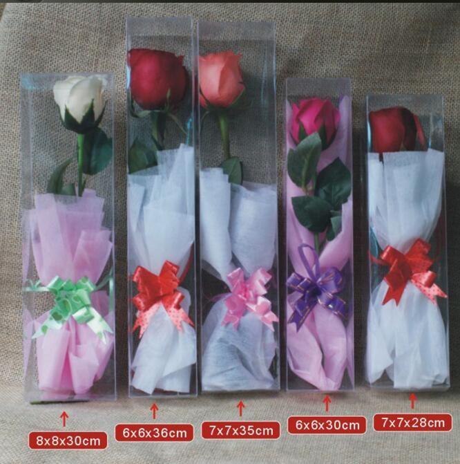 Emballage en PVC transparent Box Emballage spécial pour Roses Toy Box affichage de soirée de mariage Fleurs Paquet cadeau