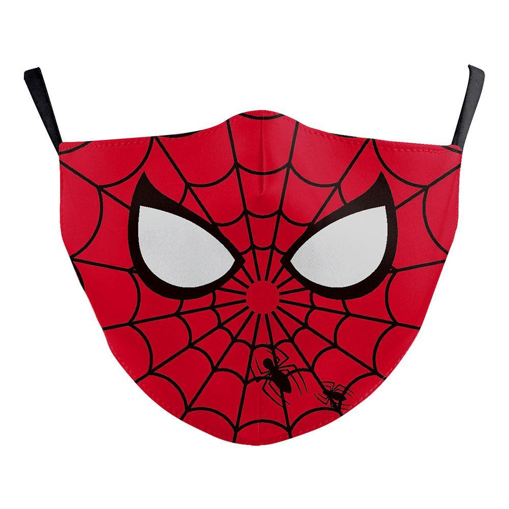 Batman Spiderman Capitan America progettista adulti viso di lusso super hero mascherina mascherine partito Cosplay riutilizzabile polvere antivento cotone mascherina del partito