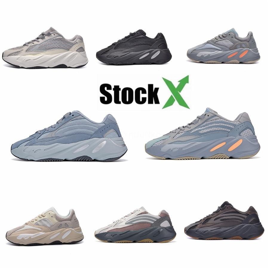 Nuovo Azael Alvah 700 V3 Kanye West Mens scarpe da corsa Bianco Glow In The Dark di lusso del progettista esterno degli uomini Donne Sport Sneakers # DSK824