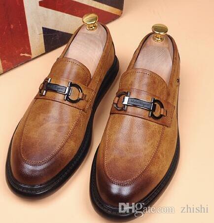 새로운 고품질 로퍼, 레이스 업없는 남성 신발, 헤어 스타일리스트 신발, 브랜드 디자이너 남성 디자이너 슬라이드 남성 디자이너 로퍼 g5.9