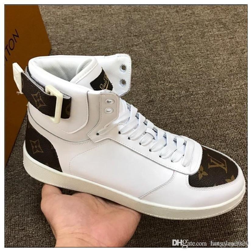 2019ss Kişilik ve moda ünlü spor ayakkabıları dantel-up en kaliteli lüks ayakkabıtasarımcıGerçek deri rahat ayakkabılar 38-45 boyutu