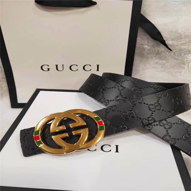 2019 Cinturones de diseño hombres de la correa y la correa de la manera mujeres de cuero de las mujeres Oro Plata y Negro hebilla Cinturones de moda diseñador del cuero genuino de los hombres 89