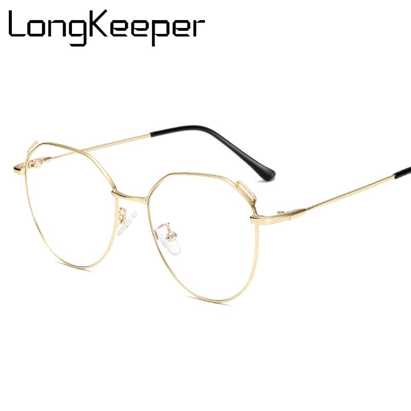 el más nuevo 2f1c5 aabac Compre Gafas Claras Mujer Hombre Óptico Metal Unisex Gafas Mujer Gafas  Negro Oro Plata Marco De Lentes Lentes Ópticos Hombre A $39.73 Del ...