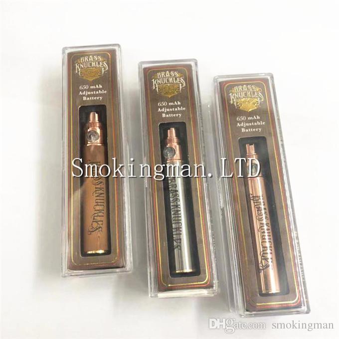 Кастет Vape батареи 650mah переменное напряжение разогреть батареи e-сигареты ручка для резьбы 510 густое масло патрон Kingpen бака