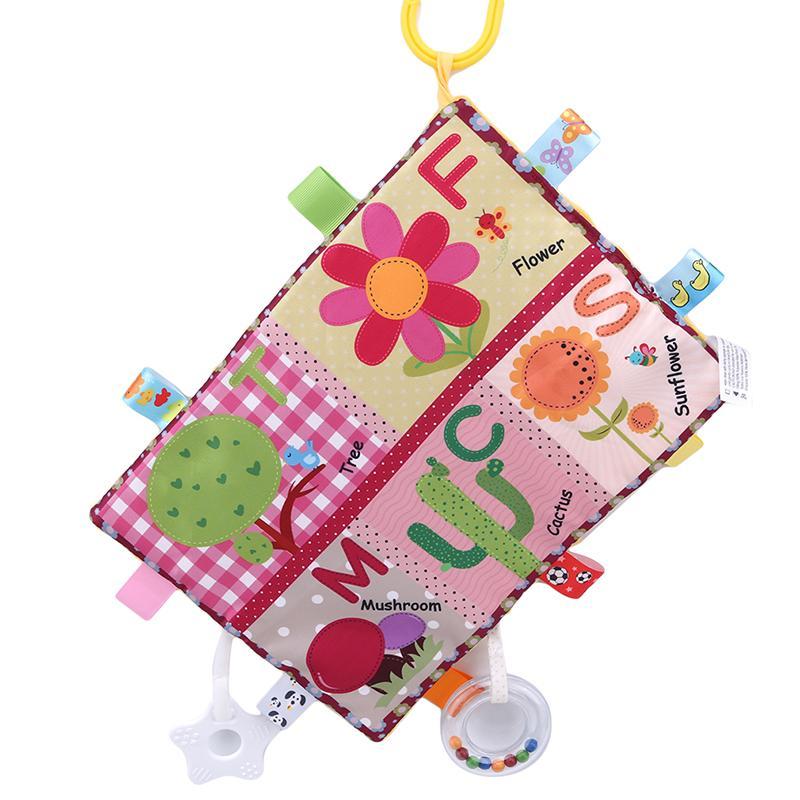 Fonksiyonlu bebek yumuşak peluş oyuncak Yaratıcı hediye meyve böcek çiçek torna asılı bilişsel oyuncak