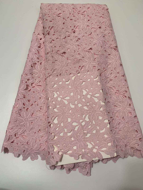 tela africana del bordado de alta tela de encaje guipur diseño de moda suizo de la gasa de encaje con cuentas de CD53
