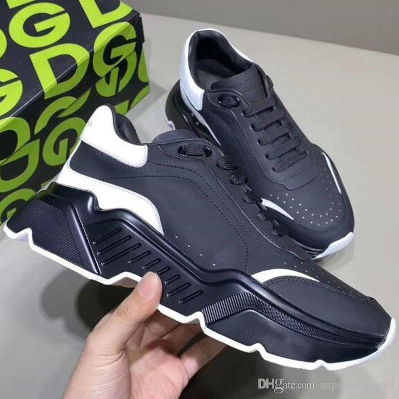 Triple S mujeres de los hombres zapatos casuales triples negros para hombre blanca del vintage de las zapatillas de deporte grises des Chaussures XW5