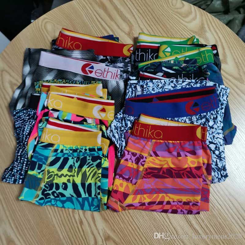 Farbe Random 2020 Ethika Boxer für Mann Underpanties Sexy Unterwäsche Herren-Unterwäsche Baumwolle Unterwäsche Shorts Fisch-Muster Male Boxershorts