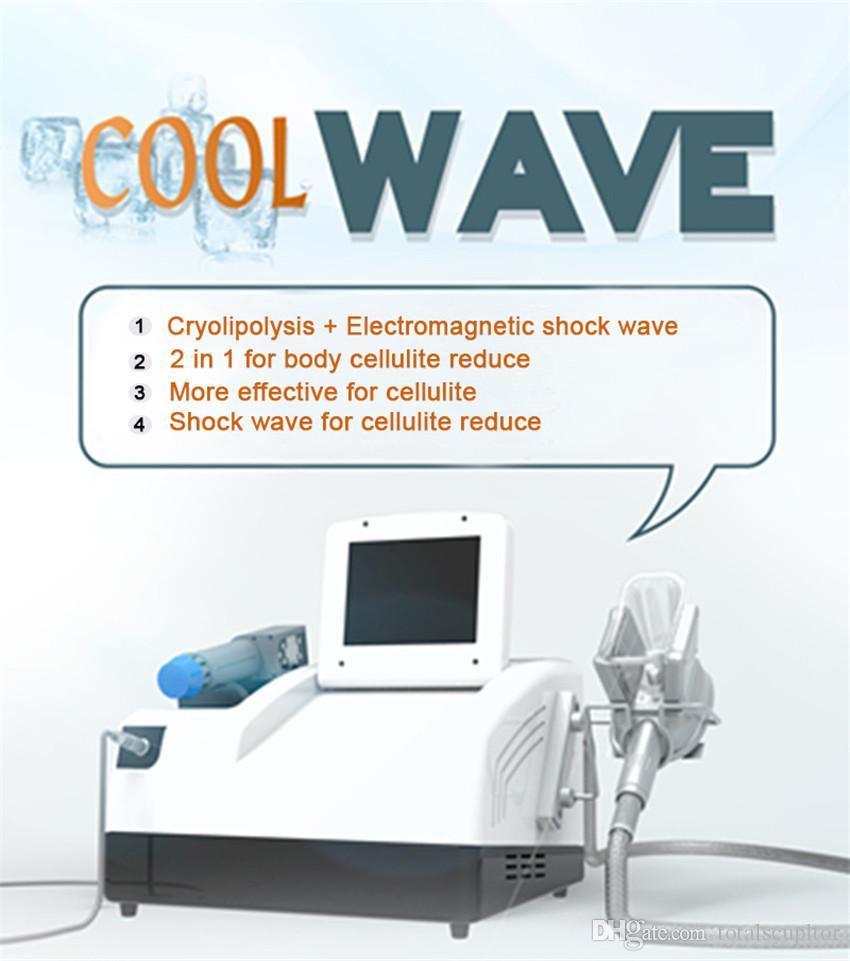 2018 Cryolipolysis 손잡이가있는 최신 Radial 충격파 치료 / 무게 손실을위한 휴대용 cryolipolysis shockwave 기계