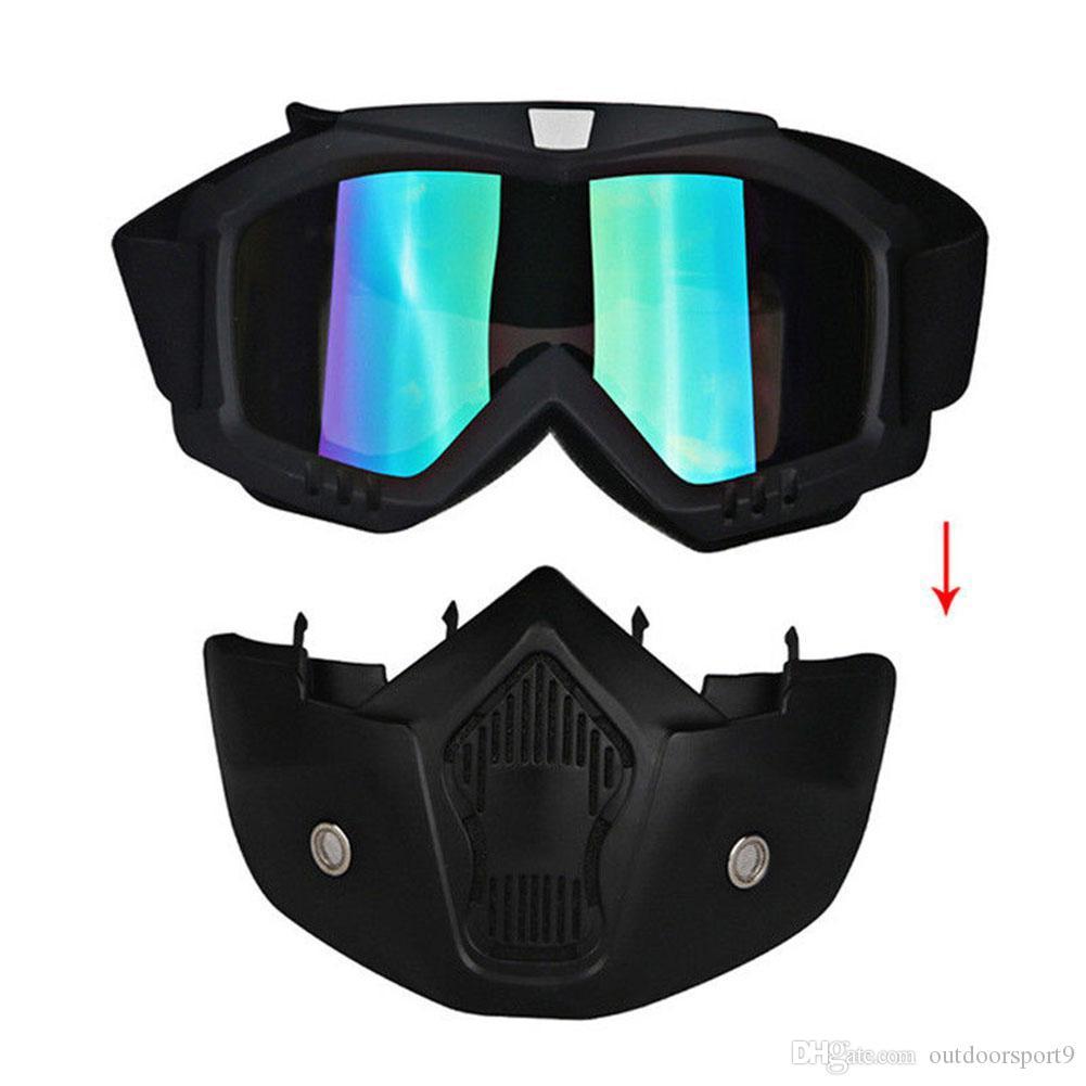 Nouvelle coupe-vent d'extérieur UV400 UV400 Lunettes d'équitation d'hiver matériel de ski ski lunettes de snowboard masques de snowboard Motocross lunettes de soleil en gros