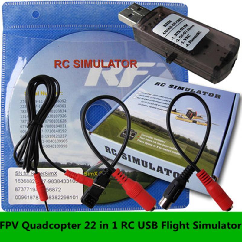 FPV Quadcopter 22 en 1 RC USB Flight Simulator Cable para Realflight G7 G6 G5.5 G5 5.0 actualizado rc simulate helicopter