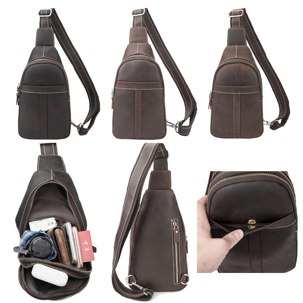 Genuine Leather Messenger Bag Shoulder Travel Satchel Crossbody Sling MEDIUM New