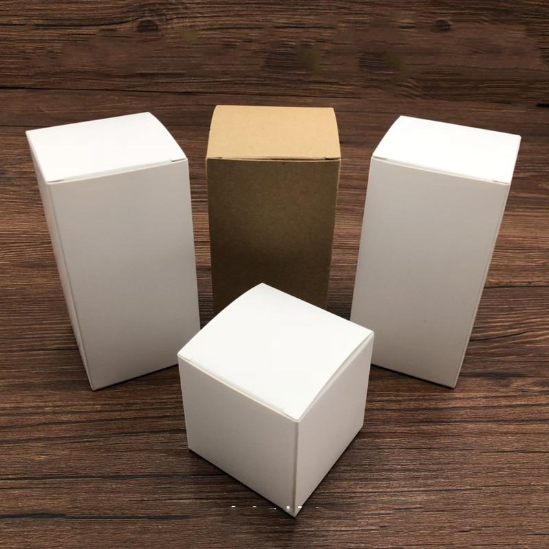 kraft paper boxes for packaging gift package,white present box for jars/bottle/candy/candle promotional gifts customized