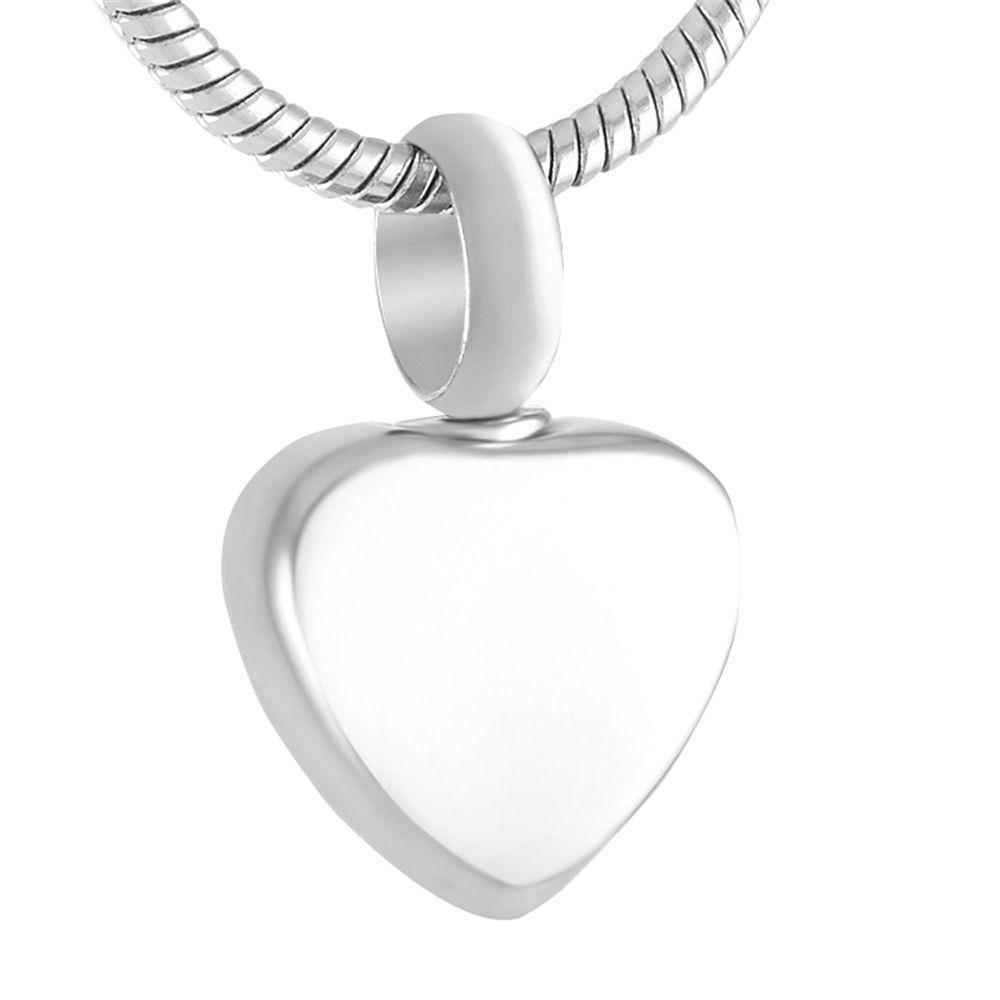 MJA0008 Coeur Urne Memorial Keepsake pour les cendres en acier inoxydable de haute polissage Crémation bijoux (Seulement pendentif)