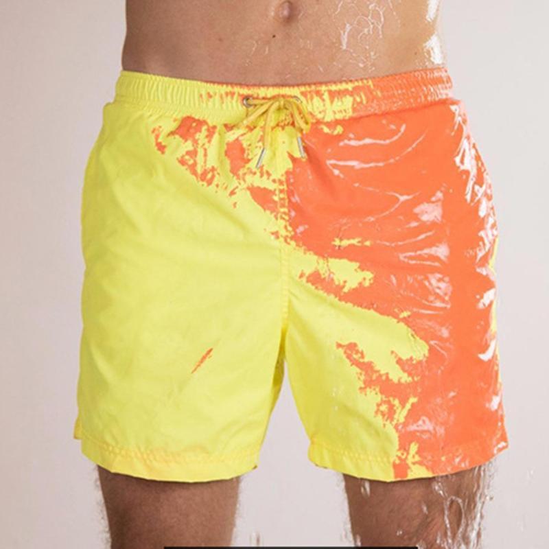الرجال السراويل الرجال kancoold شاطئ الصيف الرجال حساسة في درجة الحرارة اللون تغيير السراويل السباحة جذوع سريعة الجافة الاستحمام يونيو