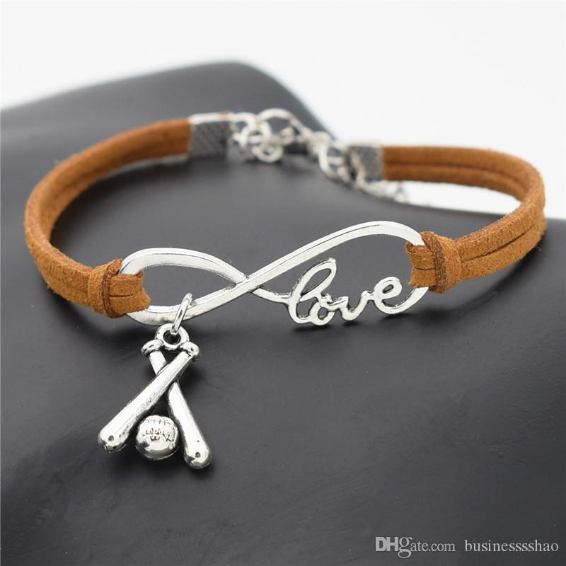 Infinity Love Cross White Bracelet Antique Silver Color Charms