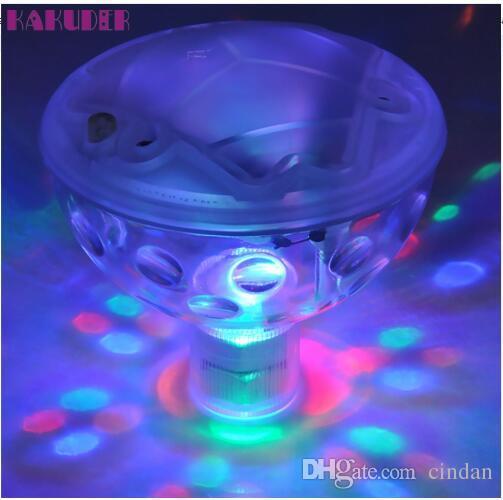 pool light Floating Underwater LED Disco Light Glow Show حمام السباحة حمام ساخن حوض سبا مصباح لوميير ديسكو السمكية