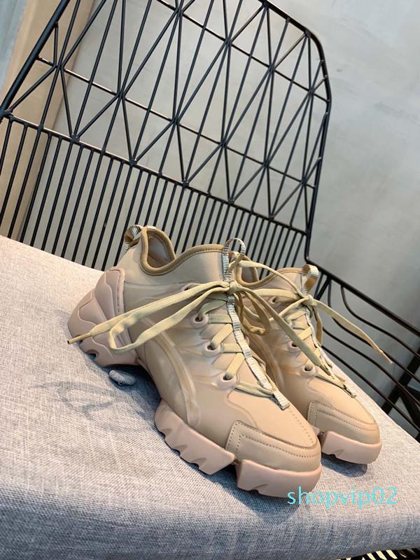 الموضة حذاء رياضة الأوتاد شقق منصة اللباس متعطل قماش المدربين فاخر مصمم أبيض أسود المرأة الأحذية الجلدية عارضة