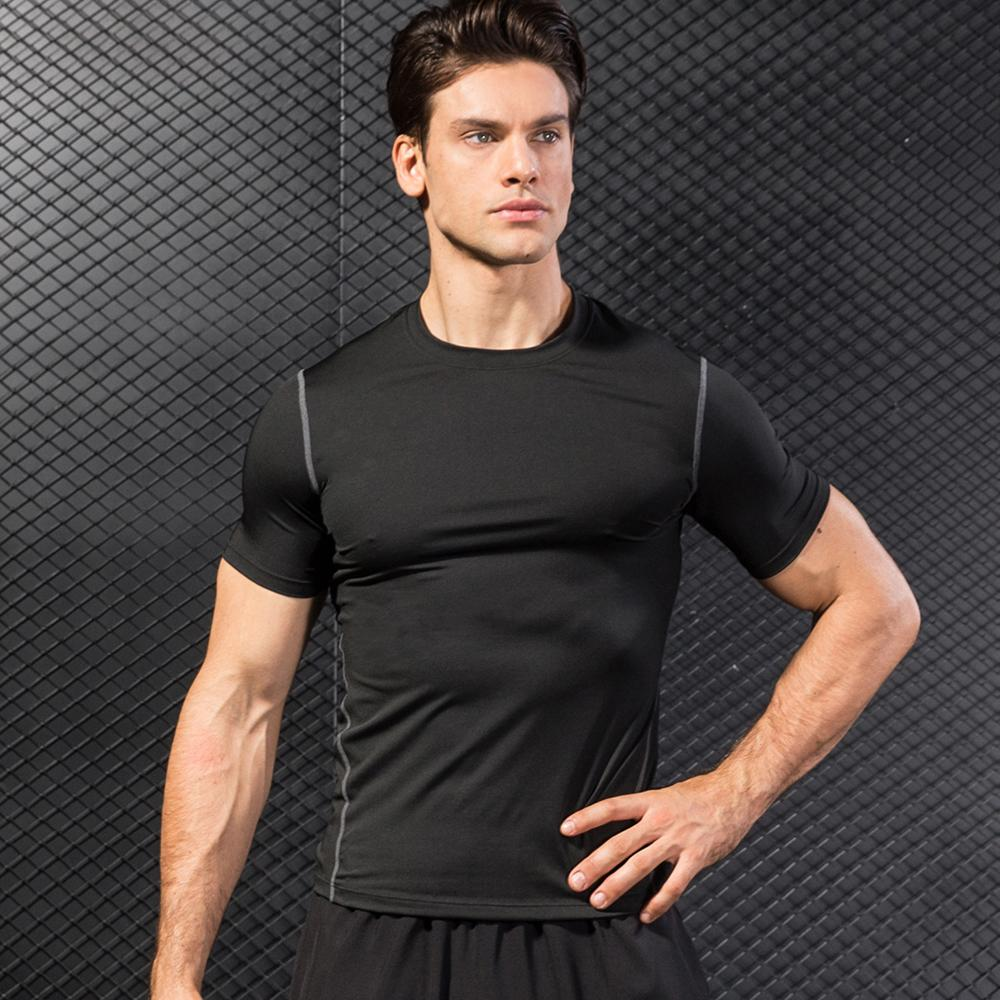 Camisa deportiva de secado rápido caliente hombre corriendo Fitness Tight rashgard fútbol baloncesto Jersey gimnasio Demix ropa deportiva comprimir camiseta