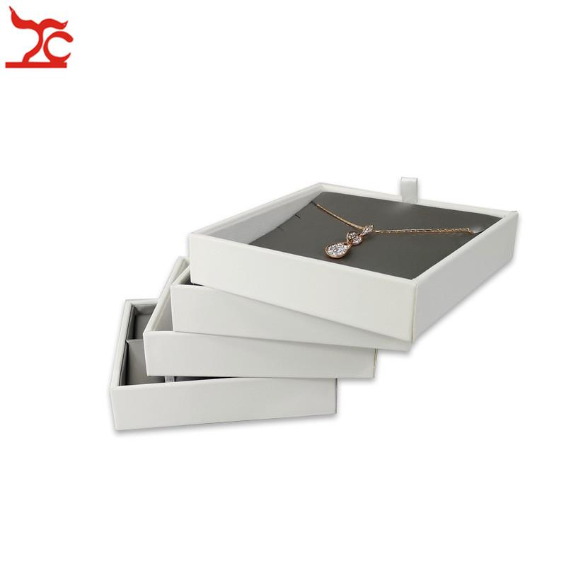 New Grey PU Earring Necklace Case Multifunctional Jewelry Display Tray Portable Pendant Storage Display Accessorie Bijoux Box