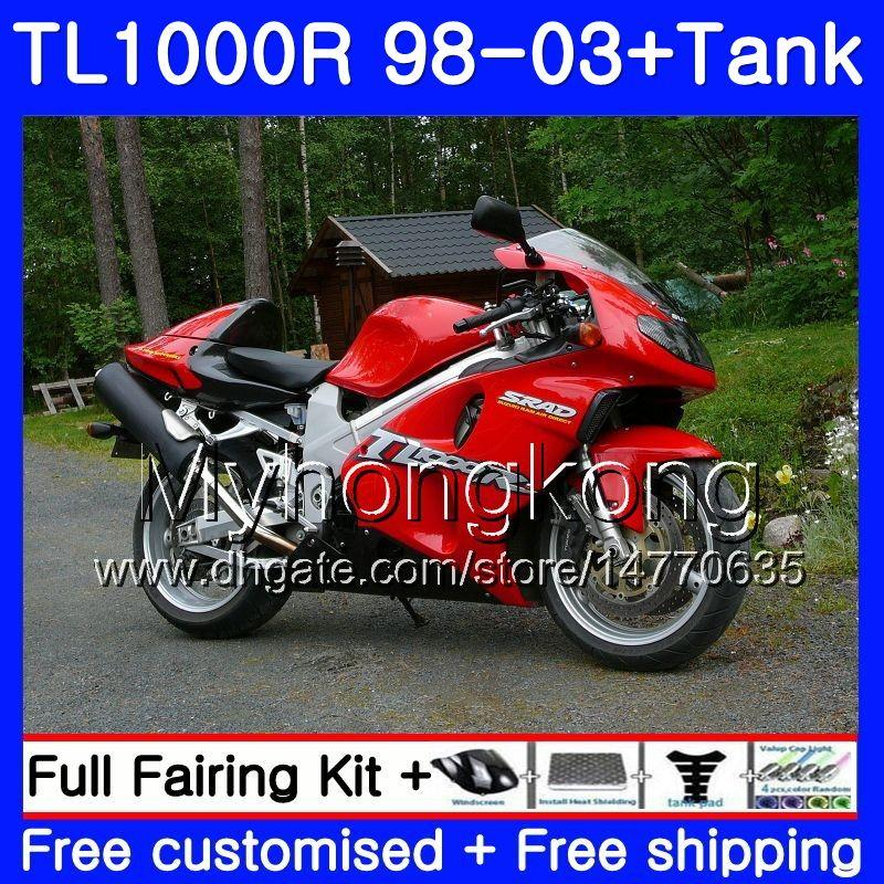+Tank For SUZUKI SRAD TL 1000 R TL1000R 98 99 00 01 02 03 304HM.0 TL1000 R TL 1000R 1998 1999 2000 2001 2002 2003 Fairings Factory red black