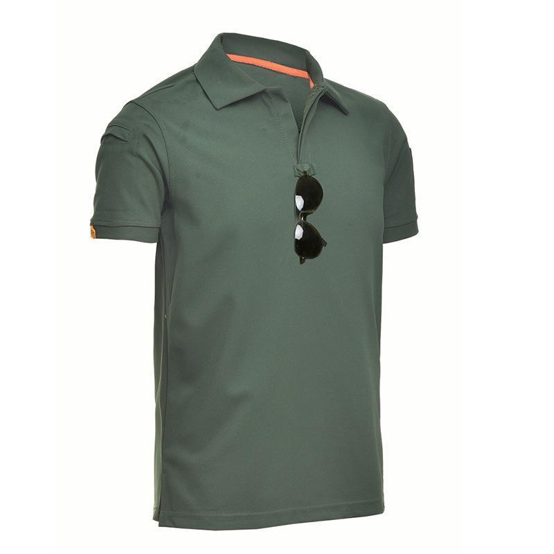 Мужчины Tactical Футболки Turn Down Army Tee Shirt Специальные Руки Сыпучие Хлопок Quick Dry Короткие рукава Твердые шорты дышащий