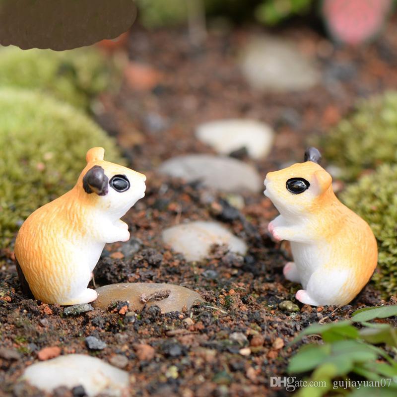 XBJ038 nouveau paysage Mini Cute résine Artisanat Décorations Simulation jardinage hamster décoratif Décor de jardin de Noël