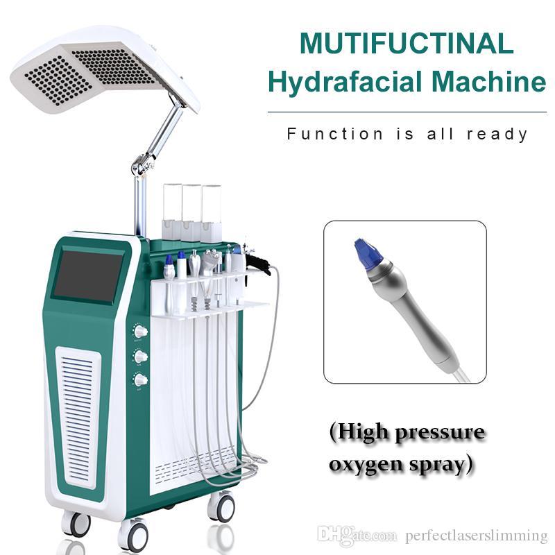 제트 껍질과 Hydrafacial CO2 산소 RF 1 산소 물 기계 히드라 얼굴 산소 스프레이 건 기계에 얼굴 기계 (9) oxigen