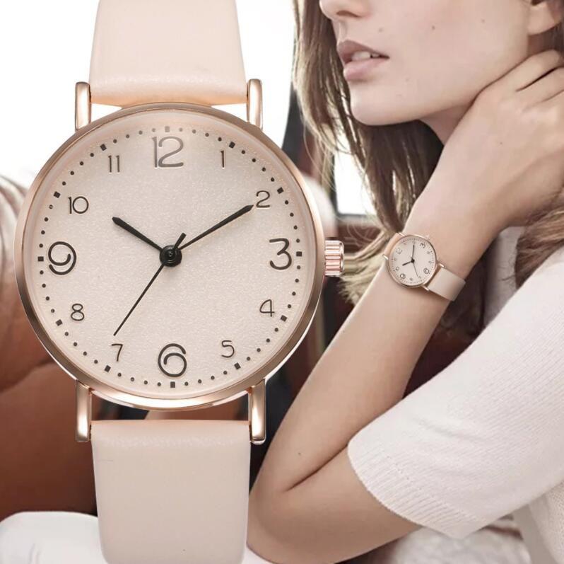 reloj de la correa de Corea manera simple estudiante de la hembra del ocio reloj de cuarzo el mejor regalo para las mujeres y las niñas el envío libre