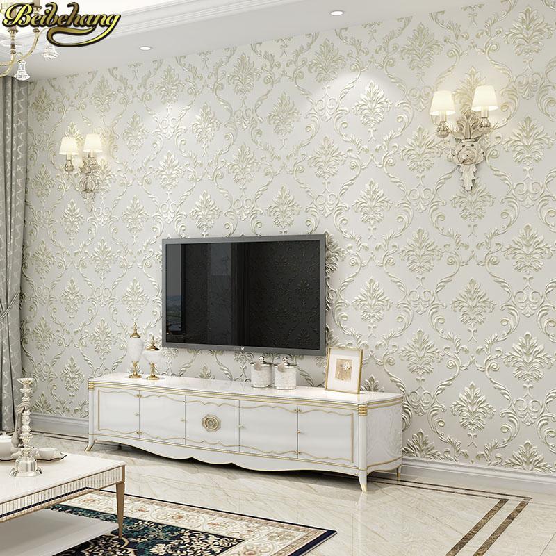 53X300 cm Avrupa Şam Çiçek duvar kağıdı duvarlar için 3 d Dokulu döşeme Duvar Kağıdı oturma odası Yatak Odası dekorasyon