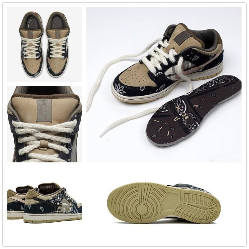 Travis Scotts x SB Dunk Low Deportes Skateboarding zapatos para hombre formadores zapatos corrientes de las mujeres zapatillas de deporte de diseño