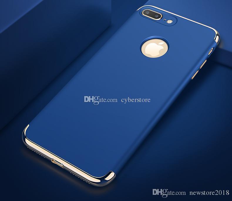 아이폰 7의 초박형 충격 방지 3 일 전신 하드 전기 도금 고무 코팅 돌아 가기 케이스 커버에 iphone7 5 6 6S 플러스