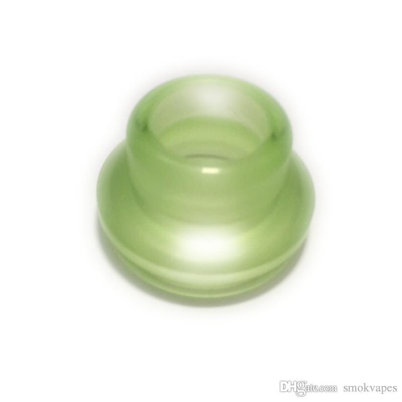 24MM Drip Tips Summit PC Material Ampla Bore Verde Transparente Fit 24 milímetros 528 Goon RDA Limitless RDTA Atomizador Vapor Bocal de alta qualidade