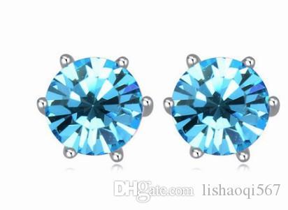 noble bas prix haute qualité plus couleur diamant diamant 925 argent dame earigns 10.38tyert