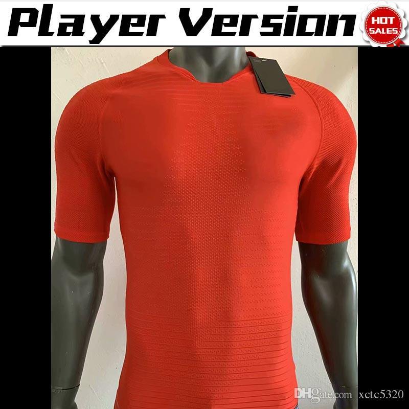 2020 versão do jogador Paris treinamento camisas de futebol 19/20 homens camisa de futebol vermelho uniformes de futebol de manga curta não imprimir