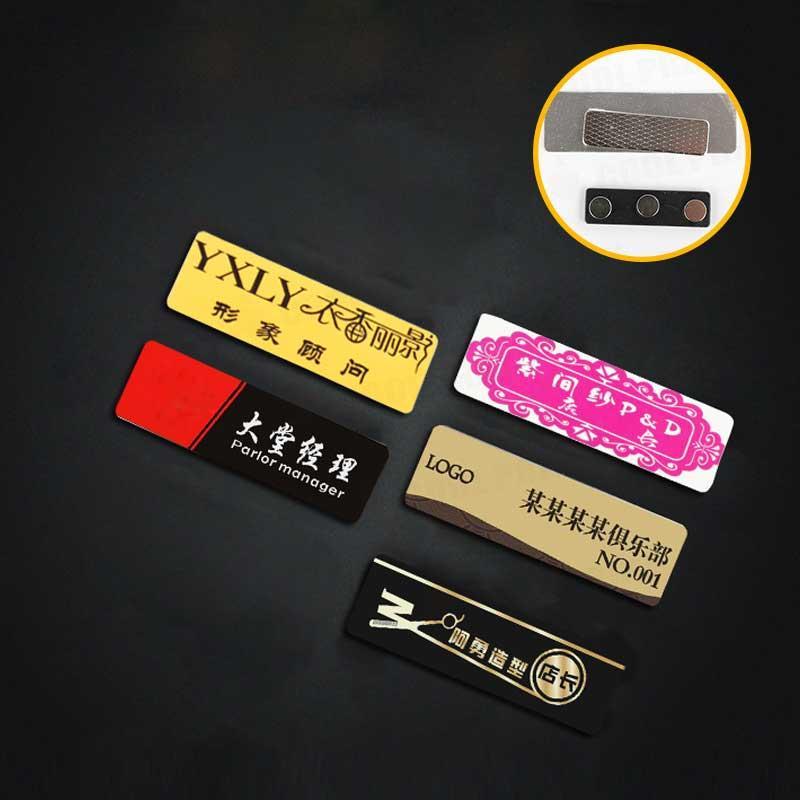 sublimation blanc en alliage d'aluminium badge broches en métal étiquette personnalisée aimant badge impression chaude tranfer impression bricolage consommable en gros